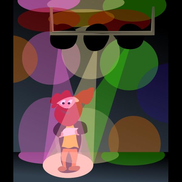 Cartoon man in disco