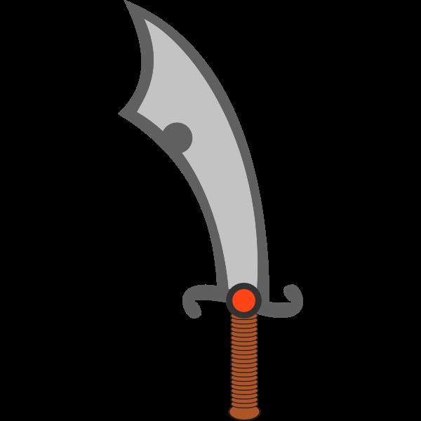Vector of a scimitar