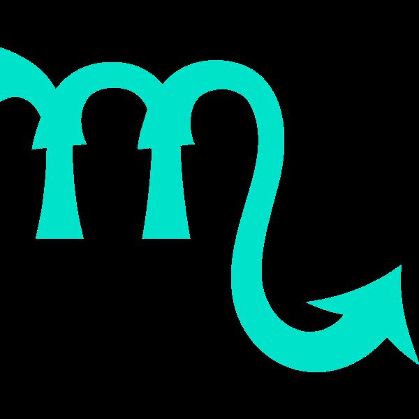 Green Scorpio symbol