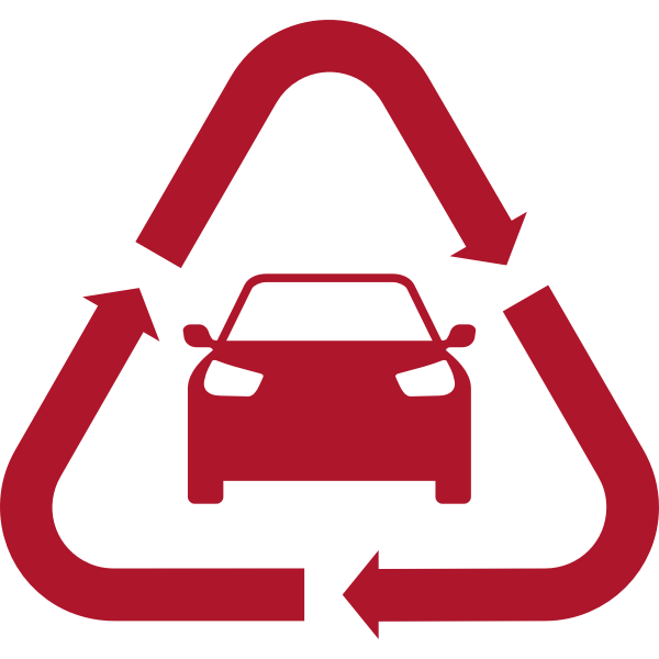 Red motor vehicle icon