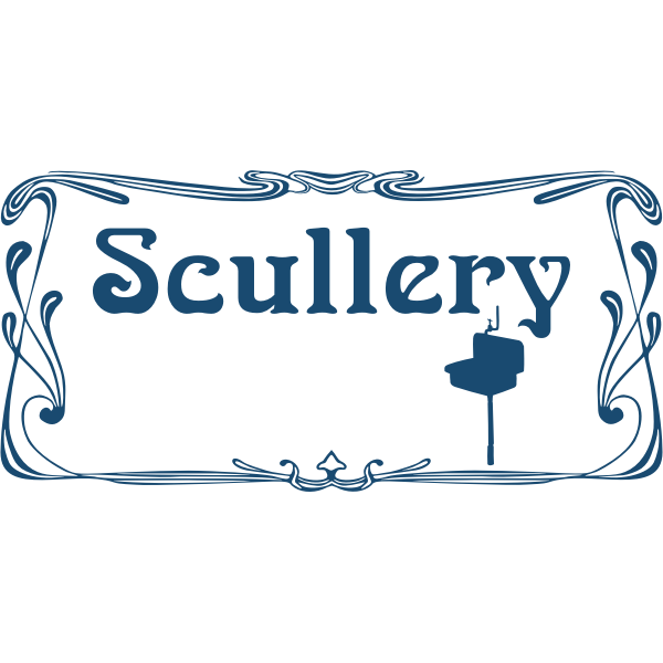 Scullery door sign