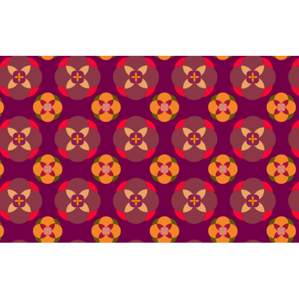 Colorful floral design pattern