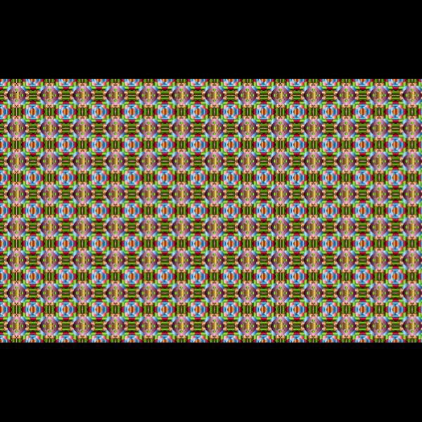 Chromatic geometric pattern