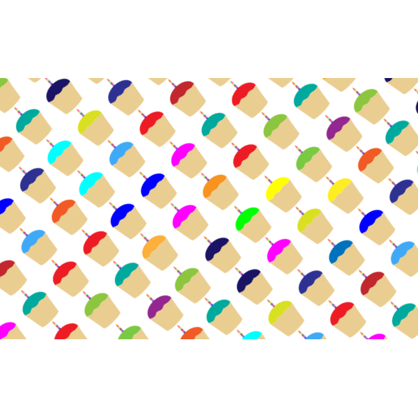 Cupcakes vector pattern