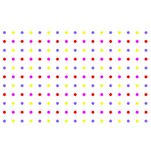 Seamless Colorful Sparse Polka Dot Pattern