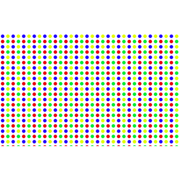 Seamless Colorful Tightly Packed Polka Dot Pattern