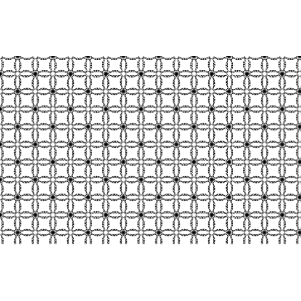 Flowers or crosses in a pattern