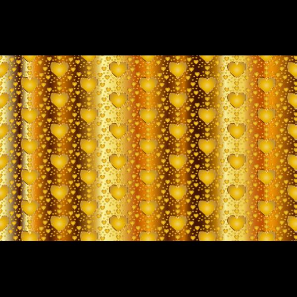 Seamless gold heart vector image