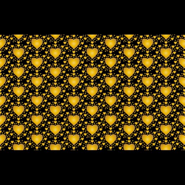 Seamless gold heart vector pattern