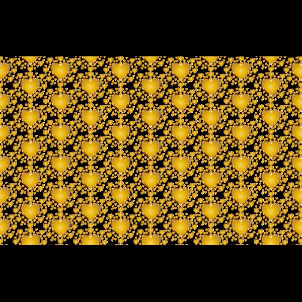 Golden heart wallpaper