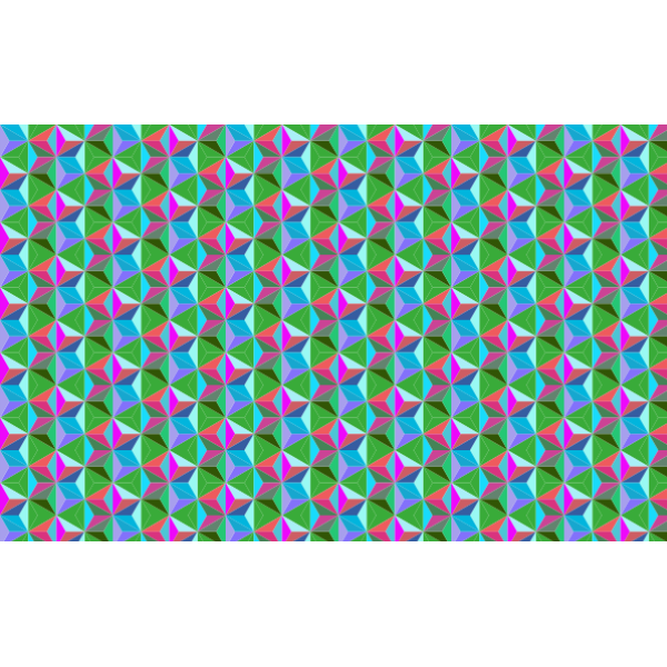 Seamless Hexagonal Diamonds Pattern 3