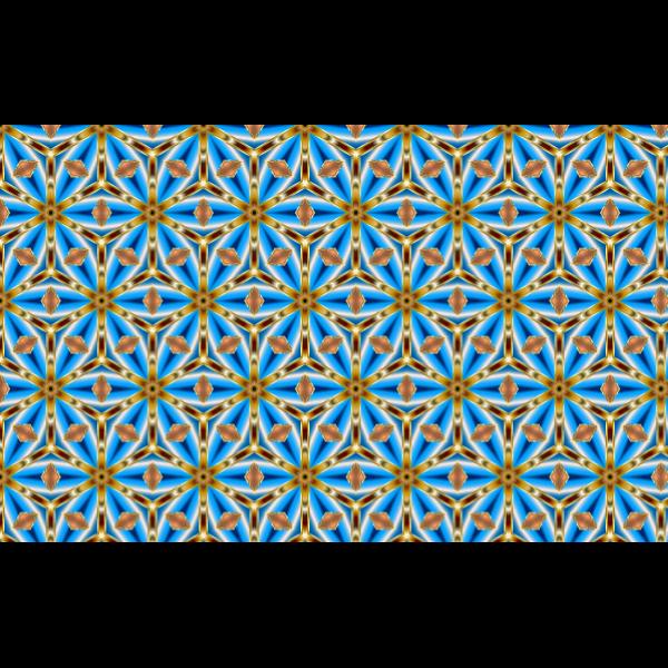 Blue and golden wallpaper