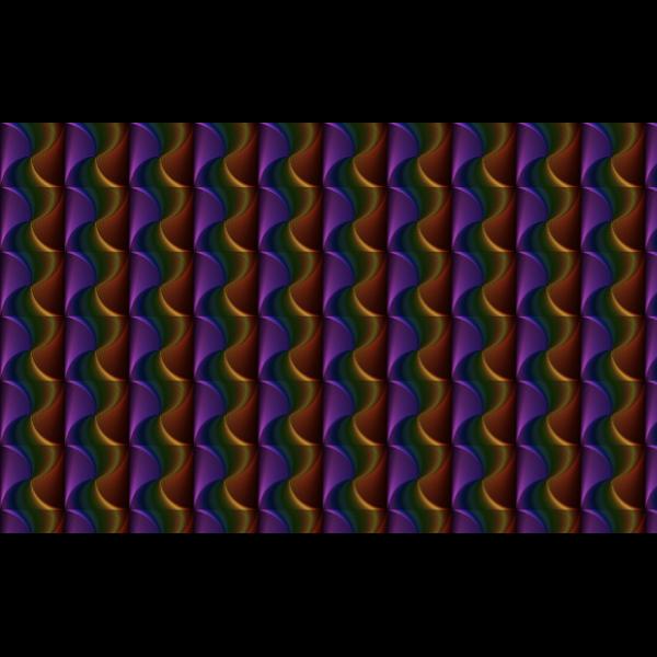 Seamless Prismatic Quadrilateral Line Art Pattern