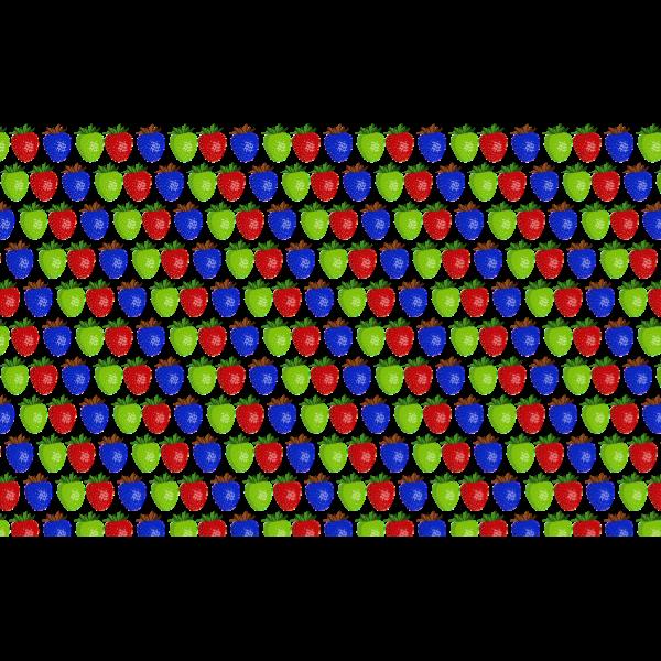 Seamless Shiny Strawberry Pattern 2