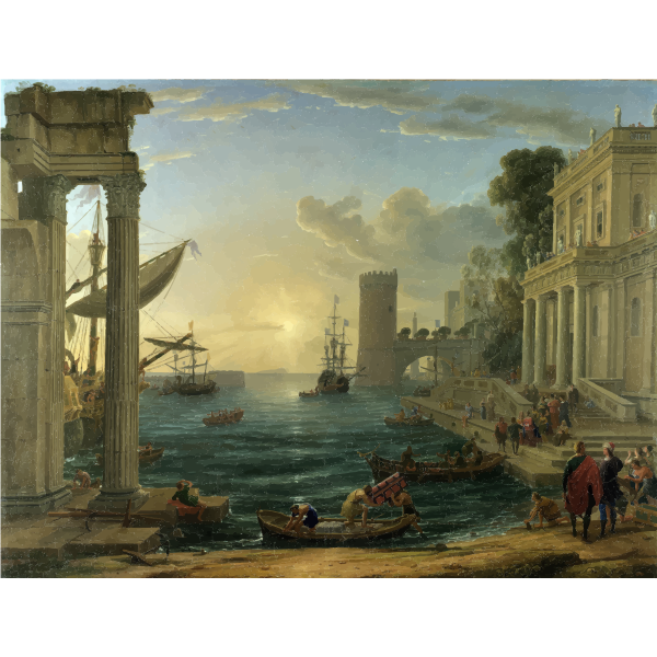 Seaport with the Embarkation of the Queen of Sheba Claude Lorrain