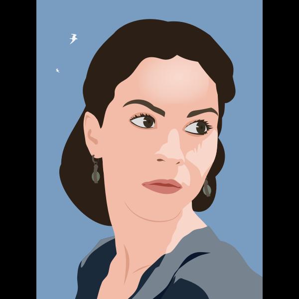 Woman vector portrait