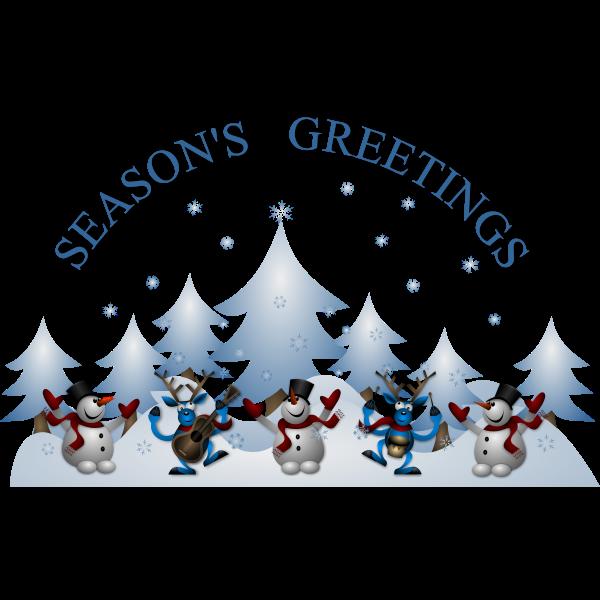 New Year season's greetings greeting card vector image