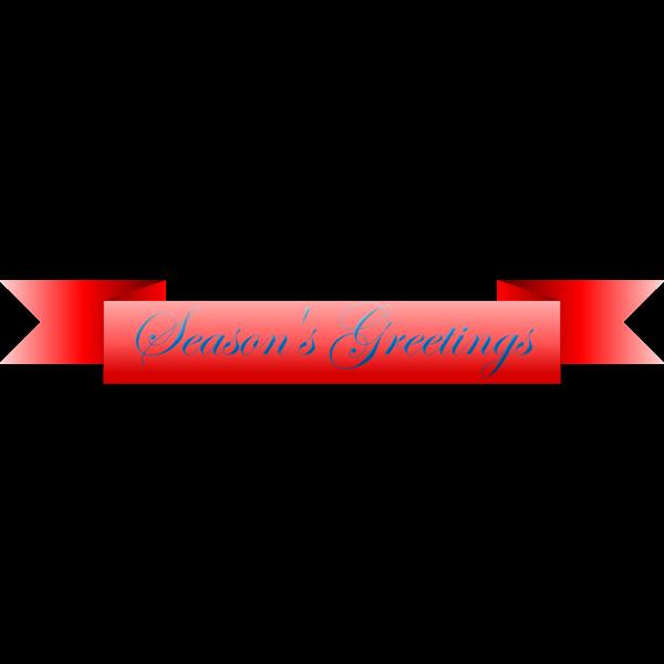 Season's Greetings Vector Ribbon