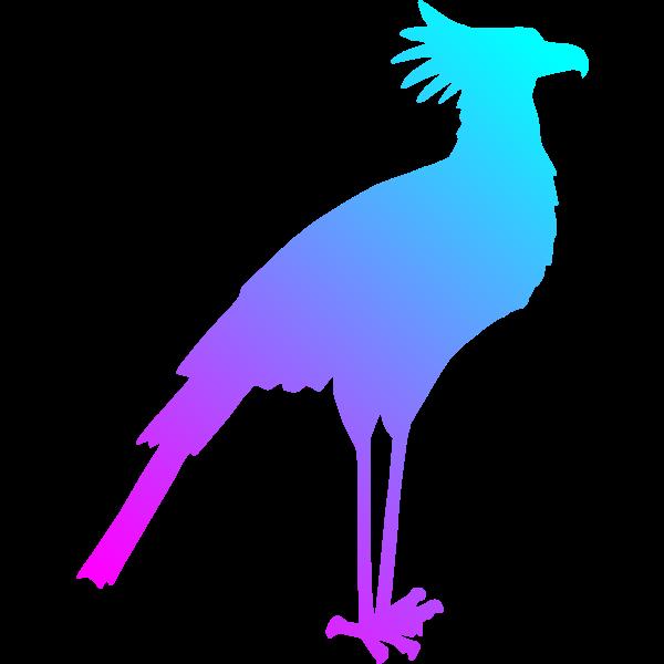 Secretary Bird Colour Reduced