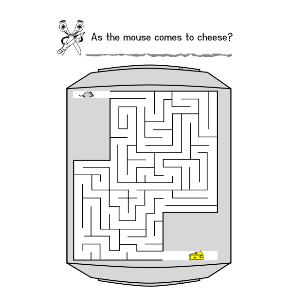 Maze for children vector illustration