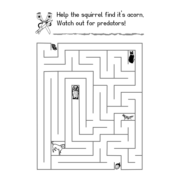 Maze for children vector image