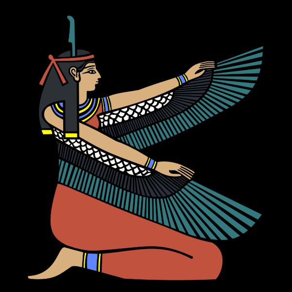 Egyptian goddess Maat vector graphics
