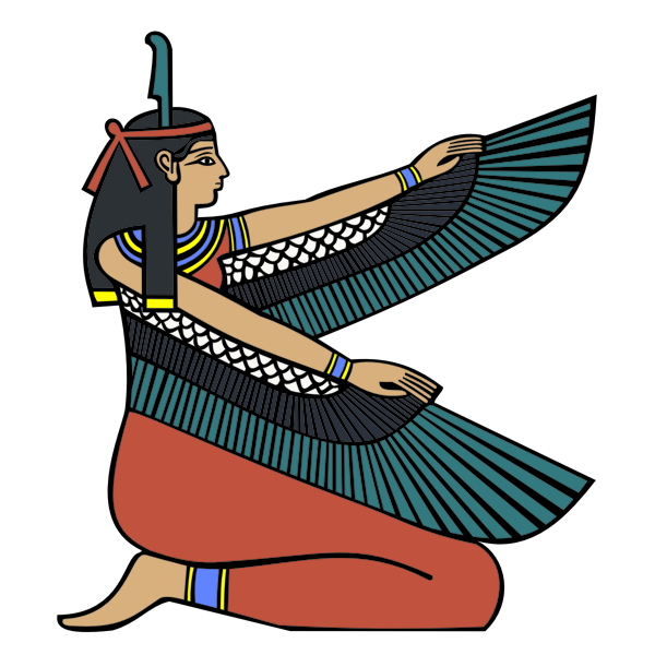 Egyptian goddess Maat vector clip art