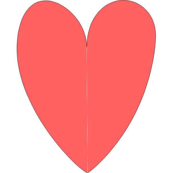 Shape of heart vector image