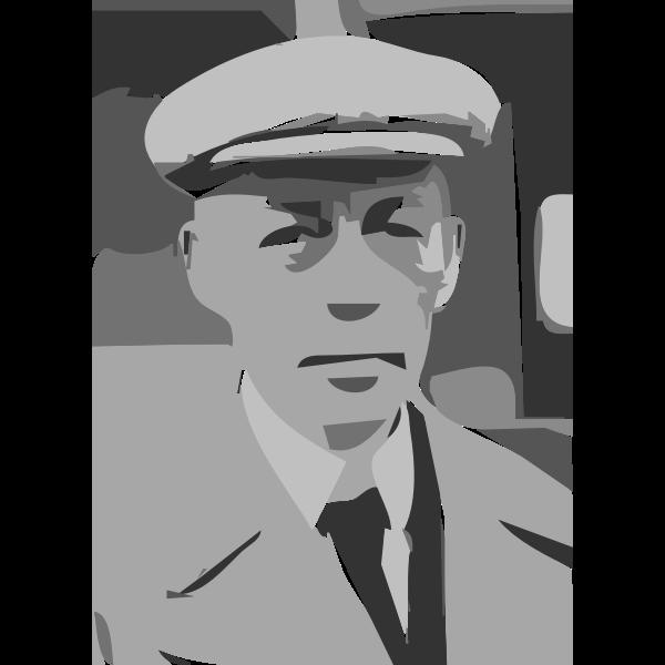 Sergei Rachmaninoff LOC 33968 Cropped  (autotrace)