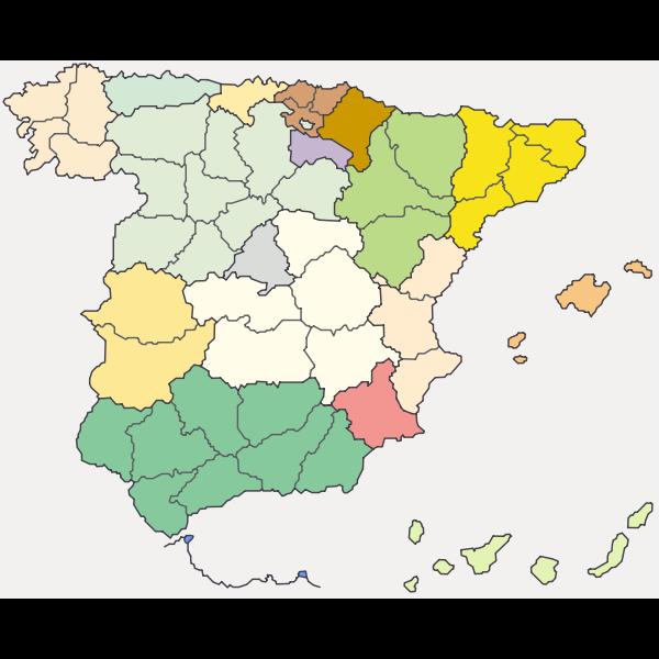SergioDaroca Map of Spain Mapa de Espa a