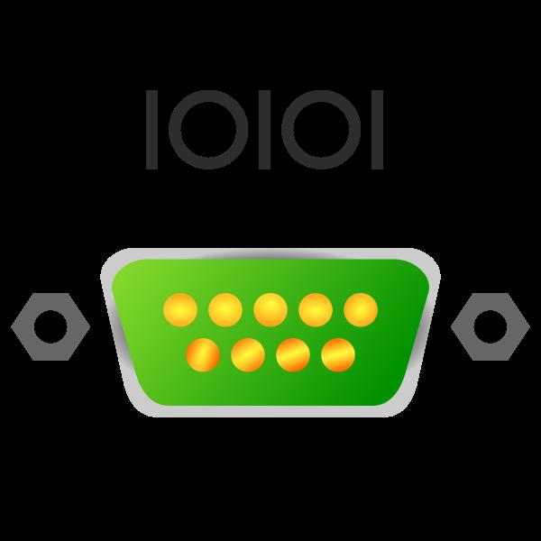 Serial port icon vector image