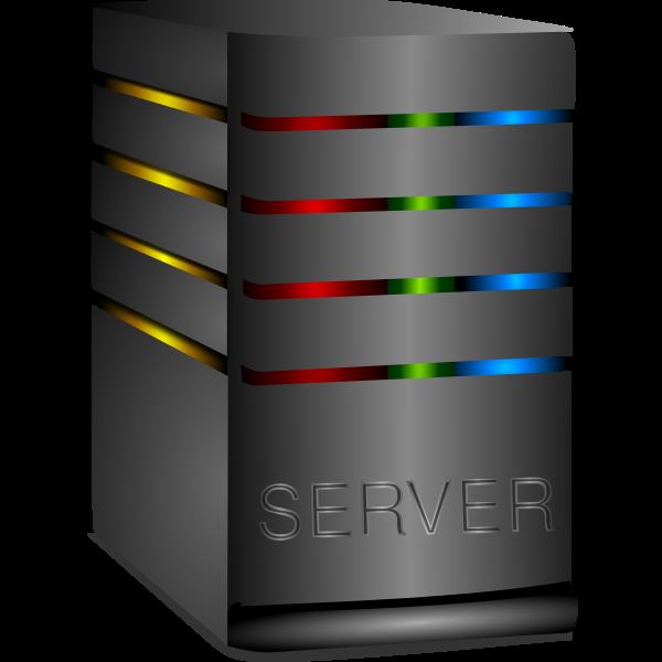 Shiny computer server vector image
