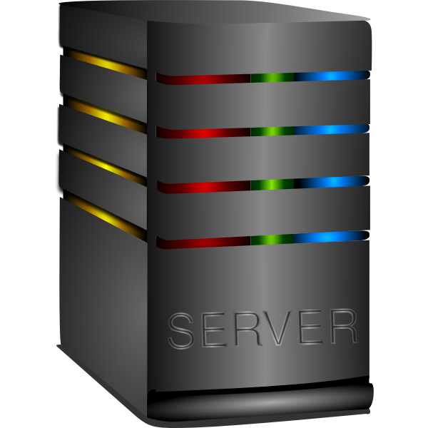 Shiny computer server vector image