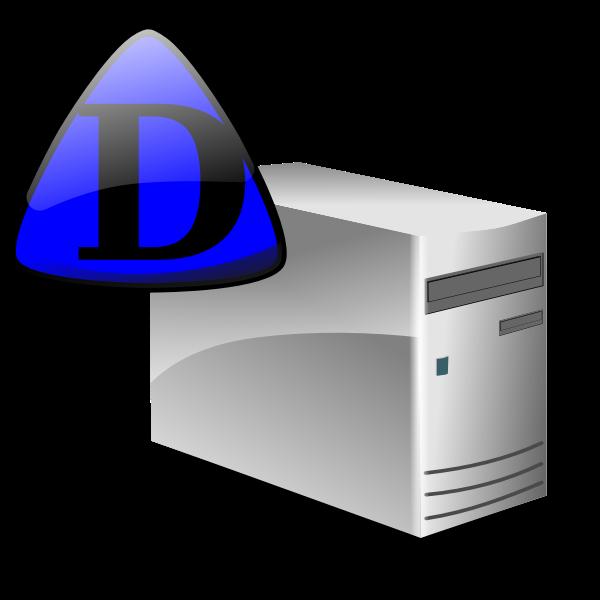 Domain server icon vector image