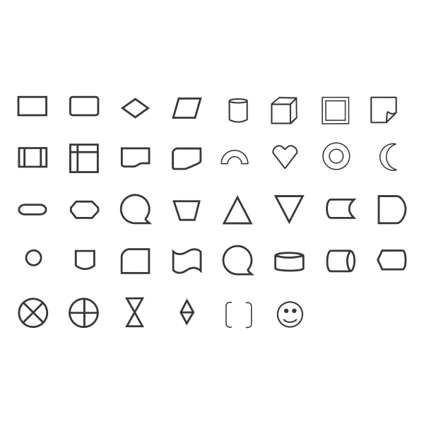 Shapes and icons set