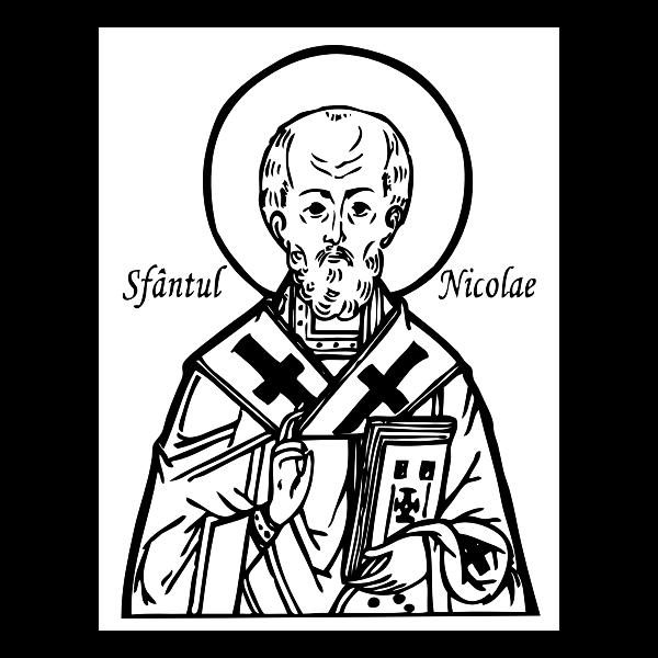 Saint Nicholas portrait vector image