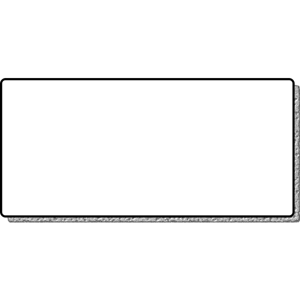 Vector drawing of border frame with a metallic shadow