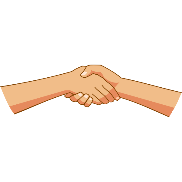 Greeting with hands
