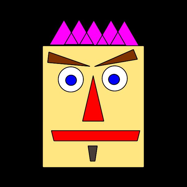 Geometric face