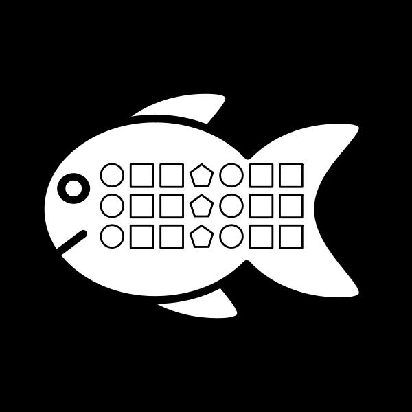 Shape pattern fish