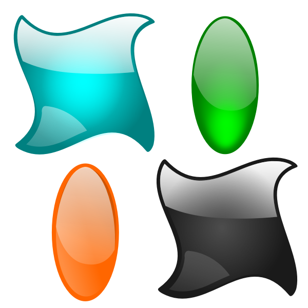 Oval and rhomboid shapes selection vector image