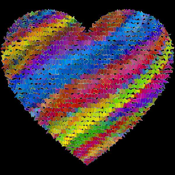 Shattered Mosaic Heart