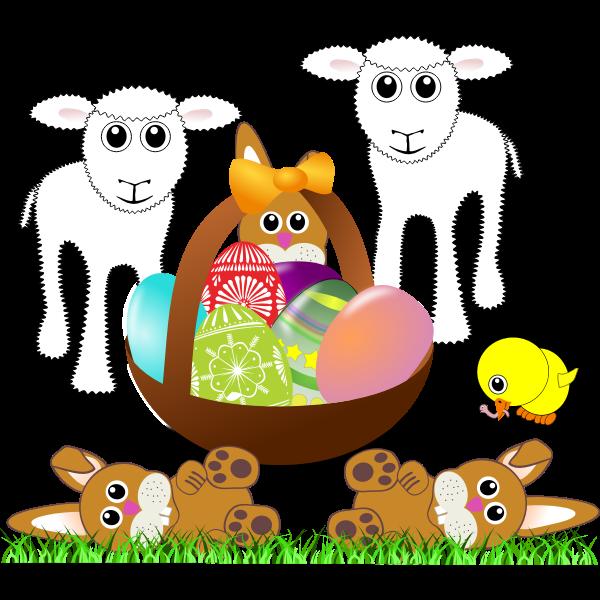 Vector clip art of Easter symbols