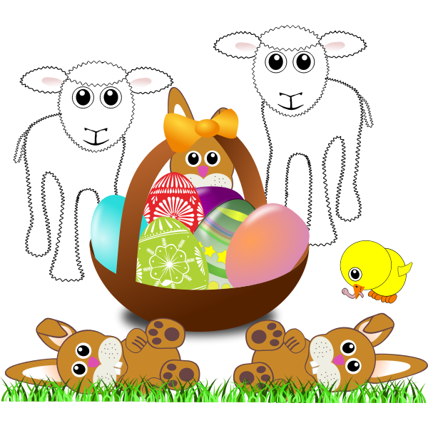 Vector clip art of Easter symbols