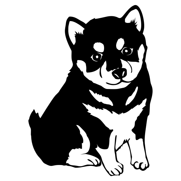 Shiba Inu Dog Silhouette