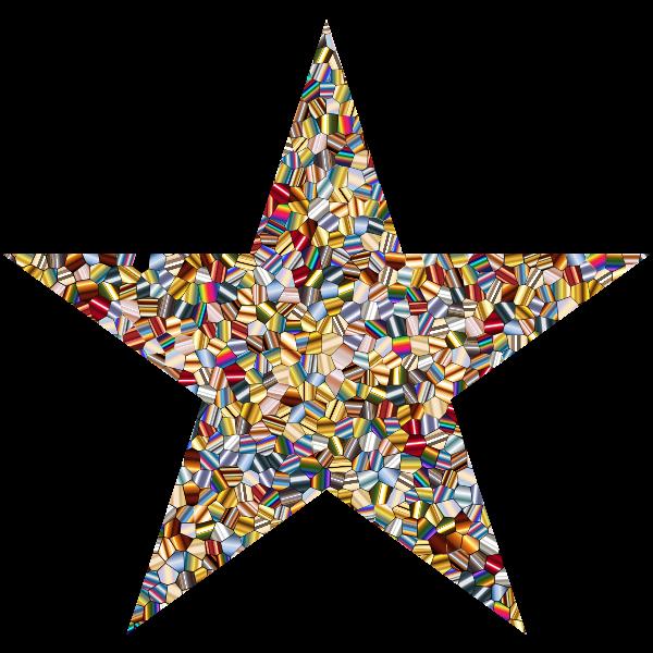 Shimmering Iridescent Mosaic Tiles 2 Star