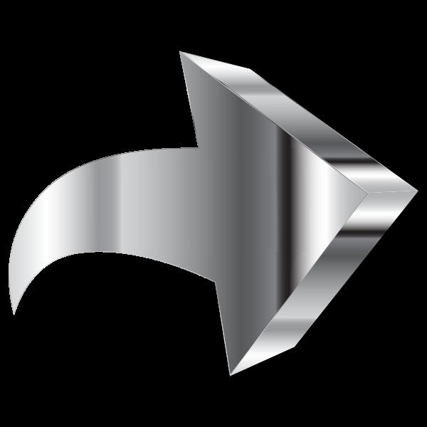 Shiny Chrome 3D Arrow