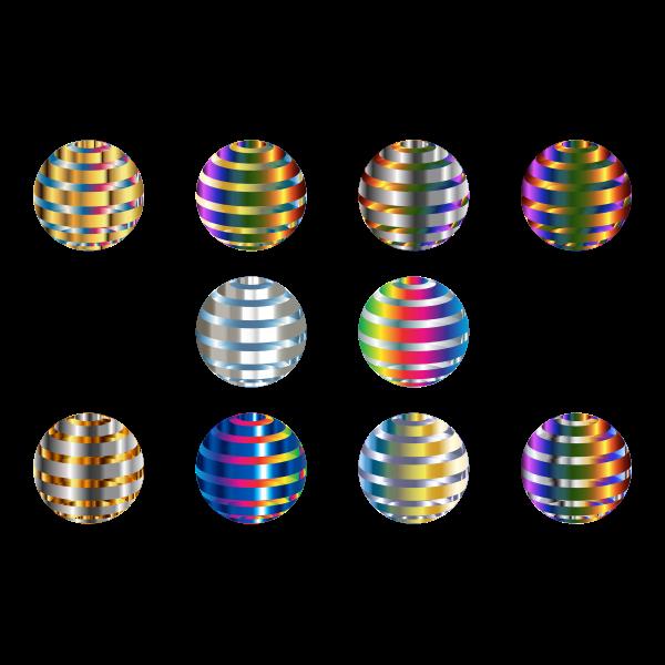 Metallic spheres