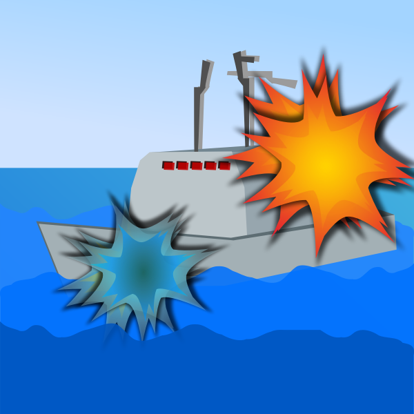 Ship Sea Battle Vector Image