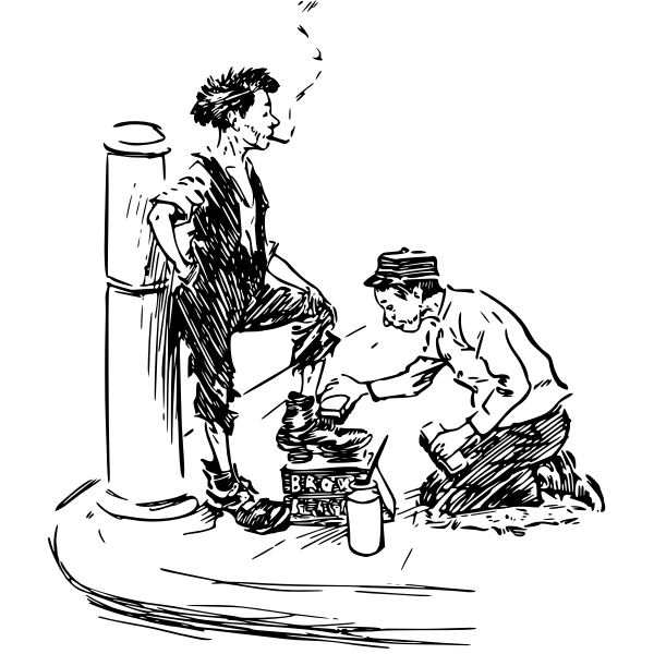 Shoe shiner vector image